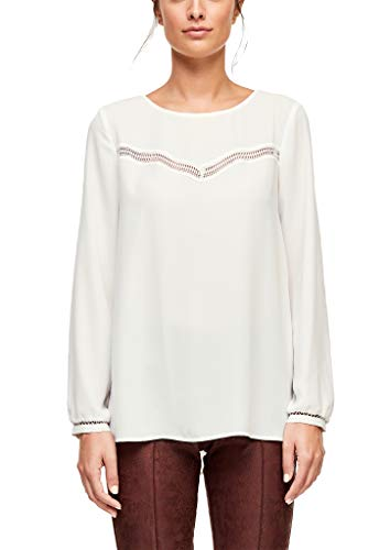 s.Oliver BLACK LABEL Damen 11.911.11.5269 Bluse, Elfenbein (Cream White 0220), (Herstellergröße: 42)