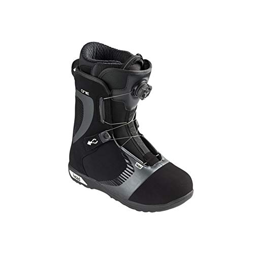 Head Unisex One Boa Waterproof Quick-Dry Freestyle Snowboard Boots, Black, 285