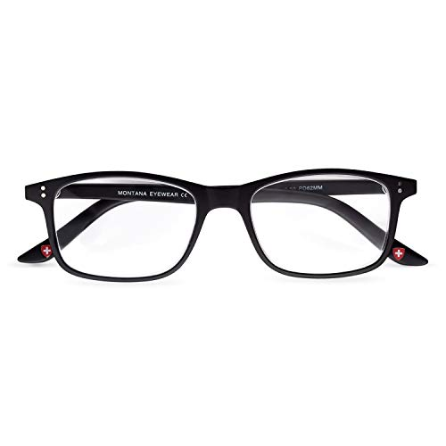 Geek Lesebrille Nerd Schwarze Lesebrille Augenwinkel eckige trendige Brille für Herren Damen Damen & Herren, Rand, rechteckige Form Verkauf in UK Optiker