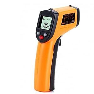 Termometro digitale, termometro a infrarossi digitale non contatto -50-400 ° C misurazione della temperatura istantanea GM320 per la cottura industriale