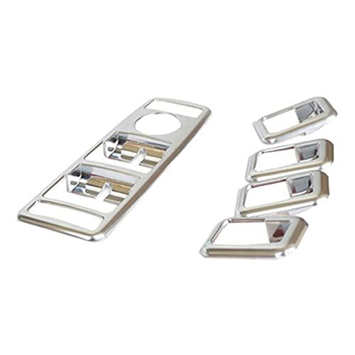 FANGPING Fang-Ping Nuevo Panel del Interruptor de la Ventana de la Puerta de la Puerta de la Puerta del Cromo Matt Fit para Mercedes C GLK Class W176 W246 W204 W212 W218 x204 (Color : Silver)
