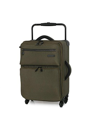 IT Luggage World's Lightest 55cm Expandable 3 Tone Beech Four Wheel Spinner Suitcase