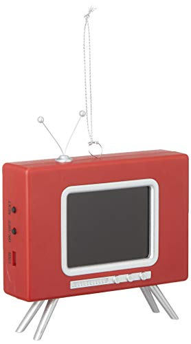 Mr. Christmas 48161 LCD Vintage TV Ornament Holiday Decorations, One Size, Red