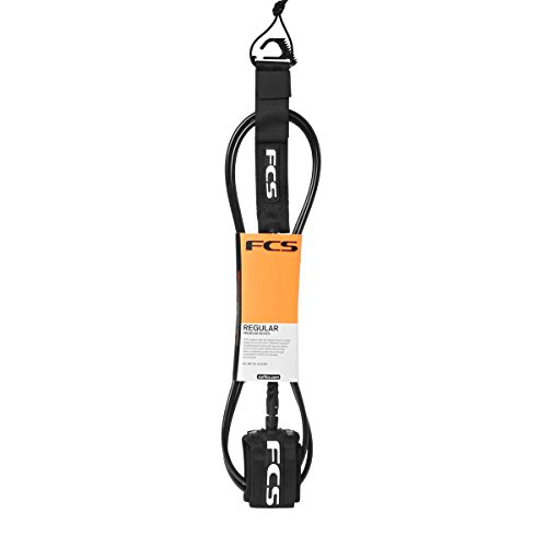 FCS Regular 7mm Surf Leash - 8'0 Black by FCS