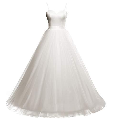HUINI Elegante Vestido de Novia Vestido Largo de Novia Una línea Vestido...