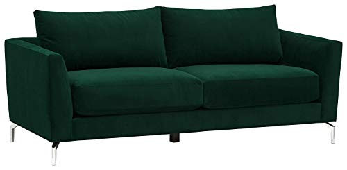 "Rivet Emerly Modern Sofa, 83.5""W, Emerald"