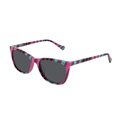 PUMA Unisex-Kinder Junior Sonnenbrille, Multicolor/Smoke, 51