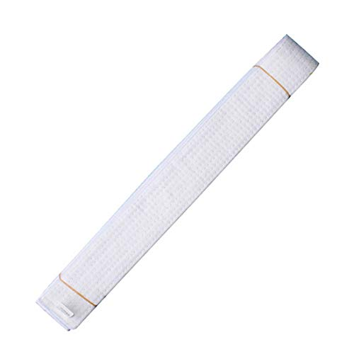 Taekwondo Colored Ranking Belts Cotton Martial Arts Judo Karate TKD Aikido Uniform Belt Kids (White, 220cm)