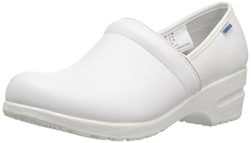 Cherokee Women's Harmony Step-In Padded Collar Shoe, White, 9 M US