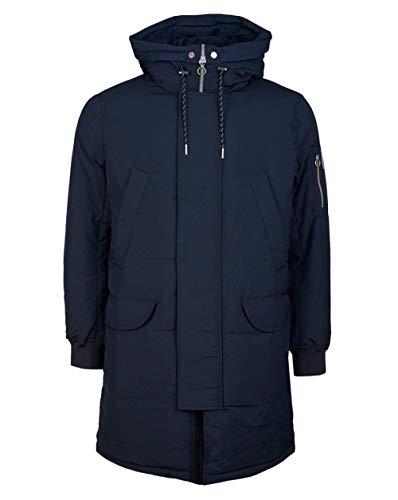 Armani Exchange AX Herren Zip Up Trench Coat with Draw String Hood Trenchcoat, navy, Medium