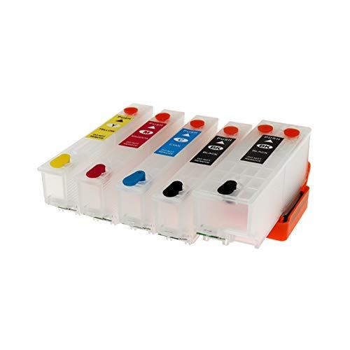 WSCHENG Cartucho de Tinta de Recarga para EPSON T3351 T3361 - T3364 T33 T33XL con Chip de Arco para EPSON XP530 XP900 xp830 xp645 xp635 xp630 xp540