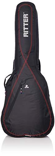 Ritter RGP2-D ACUS - Funda/estuche para guitarra acustica-clasica, con tejido repelente al agua, color negro