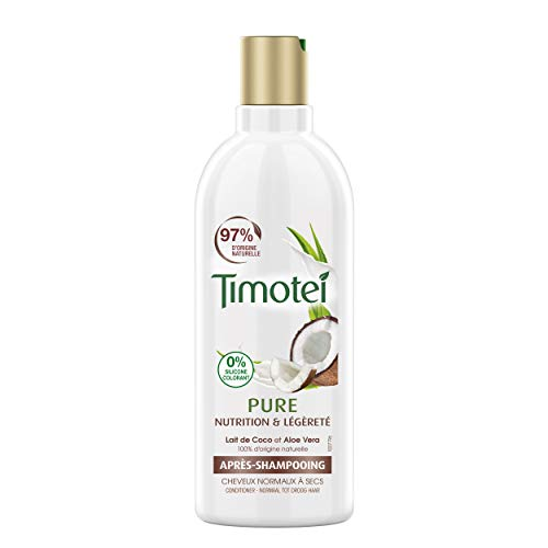 Timotei Après-shampoing Femme Nourrissant, Pure Nutrition et Légèreté, Lait de Coco & Aloe Vera, Pour Cheveux Normaux et Secs, 300 ml