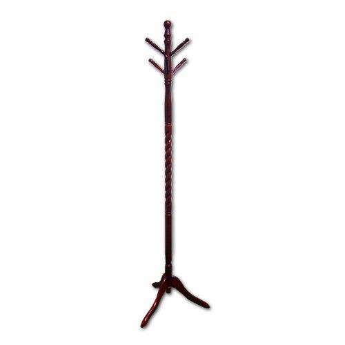 ORE International Twist Cherry Wood Coat Rack