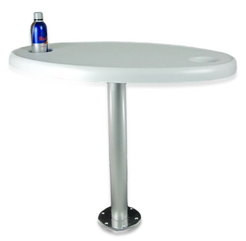 Tisch mit festem Tischbein 60 cm und Getränkehaltern