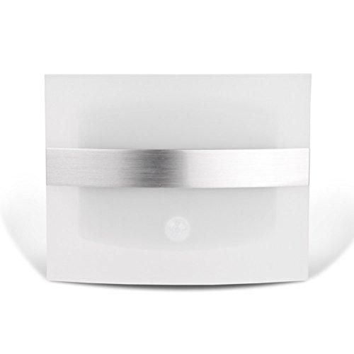 Pixnor 1.7W LED batteriebetrieben Motion Sensor Wandleuchte (Warm Weiß)