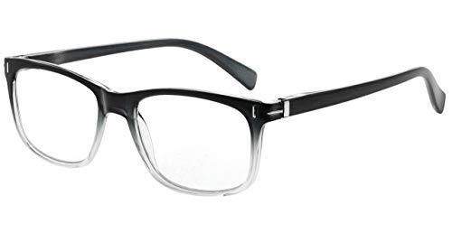 Eyekepper Reading Glasses Fashion Reading Eyeglasses Men Women (Grey, 2.50)