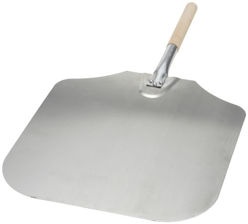 Honey-Can-Do 4439 Kitchen Supply 16-Inch x 18-Inch Aluminum Pizza Peel with Wood Handle