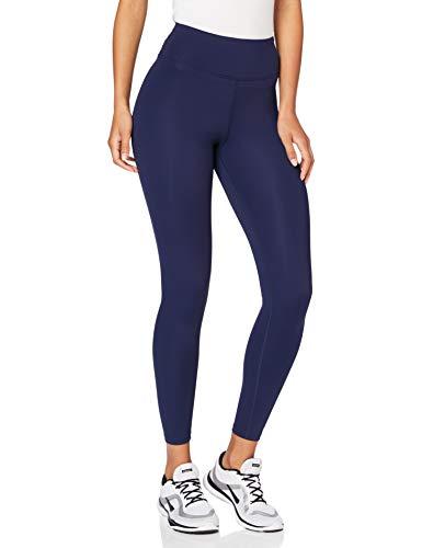 Amazon-Marke: AURIQUE Damen Sportleggings mit hohem Bund, blau (marineblau), 36, Label:S