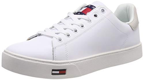 Tommy Jeans Herren Essential Sneaker, Weiß (White 100), 44 EU