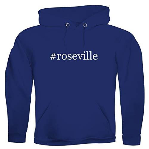#roseville - Men's Hashtag Ultra Soft Hoodie Sweatshirt, Blue, XX-Large