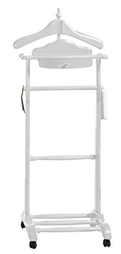PEGANE Valet de Nuit Simple Coloris Blanc - Dim : L 47 x P 36 x H 113 cm