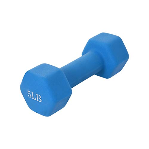 Neoprene Coated Dumbbell Weights,Set of 2 All-Purpose Dumbbells in Pair (5)