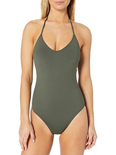 La Blanca Women's Island Goddess Scoop Front Lingerie Mio One Piece Swimsuit, Olive, 8