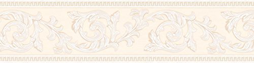 A.S. Création selbstklebende Bordüre Only Borders Borte klassisch floral 5,00 m x 0,13 m creme Made in Germany 906212 9062-12
