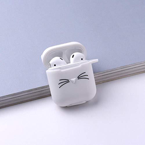 Leuke baard kat siliconen hoesje voor schokbestendige cover oortelefoon hoesjes Apple oordopjes beschermer waterdichte mouw