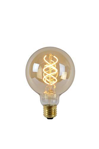 Lucide LED Bulb - Glühfadenlampe - Ø 9,5 cm - LED Dim. - E27 - 1x5W 2200K - Amber