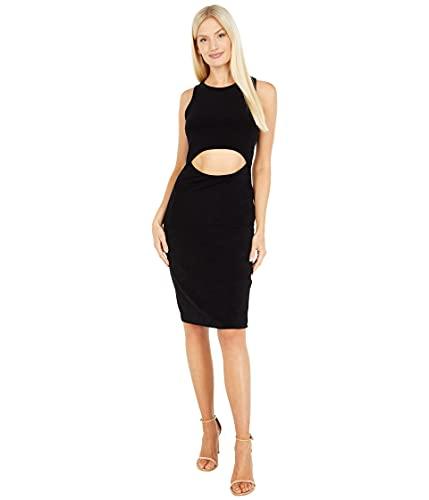 bebe Sleeveless Midi Dress Black LG