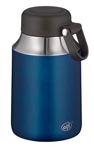 alfi 5557.259.055 Grand récipient Isotherme en Acier Inoxydable Bleu 550 ML Récipient Alimentaire Isotherme pour Aliments, soupes, céréales, étanche 9 Heures au Chaud, 14 Heures au Froid, sans BPA
