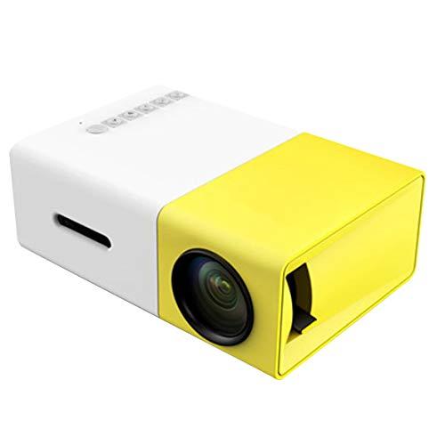 Heaviesk Proiettore Mini proiettore a LED Audio Hdmi USB 3D Pico Proiettore Home Media Player LCD Video Proyector Regalo per Bambini