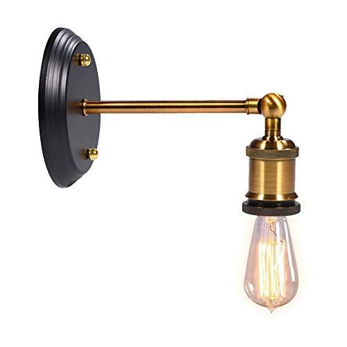 Portalampada Basi per Lampade E27 Presa Luce Retro Industriale Vintage Edison Parete Applique Sconce Socket Holder Candeliere Titolare Decorazione per Casa Ufficio Bar Club Caffetteria