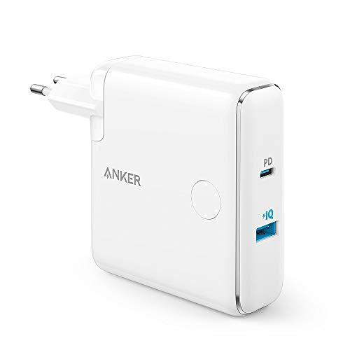 ANKER 2 in 1 Wand-Ladegerät Tragbares Ladegerät Wandladegerät AC Plug mit 5000mAh Kapazität PowerIQ Technologie für iPhone, iPad, Android, Samsung Galaxy - Weiß