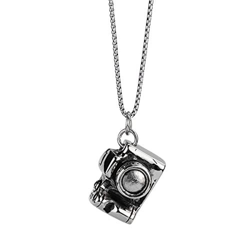 Trendige Herren und Frauen Hip Hop Persönlichkeit Slr Kamera Halskette Titan Stahl Anhänger Kette Street Hip Hop Tanzzubehör