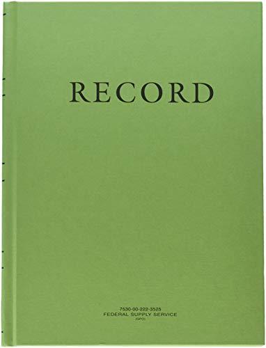2X Green Military Log Books, Record Books, Memorandum Books, 8 X 10-1/2 Green Log Book NSN 7530-00-222-3525 by AbilityOne