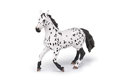 Papo 51539 Appaloosa schwarz Pferde, FOHLEN UND PONYS Figur, Mehrfarben