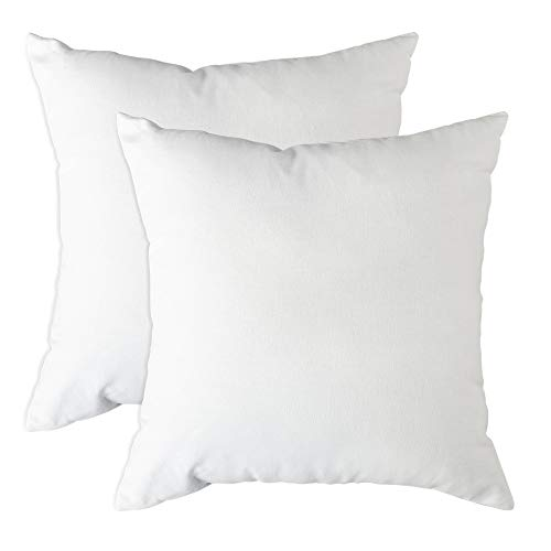 Trade Fountain Cushion Inners 45 X 45 cm - Cushion Pads 18 x 18 inches - Small Pillow Inserts - Pillow Pads For Sofa Cushions, Bedding & Couch - Decorative Cushions - White Cushion Fillers (Pack of 2)