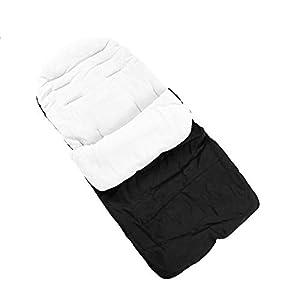Saco de dormir universal para cochecito de bebé, cómodo y cálido, impermeable, resistente al viento, a prueba de frío…