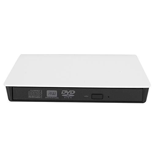 External Optical Drive DVD Recorder 8-Speed D9 Burning Strong Shield for Desktop Laptop,WinXP/2003/Win8.1/Win10/Vista/7/Linux/OS X10(white)