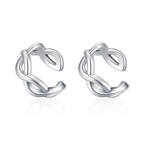 YFN 925 Sterling Silver Celtic Ear Cuff Earrings Non Pierced Cartilage Earrings for Women