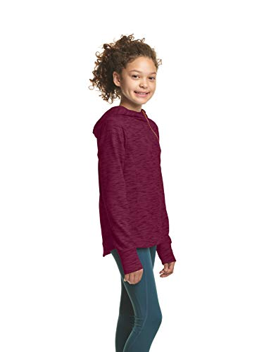 C9 Champion Girls' Fleece Asymmetrical Jacket, Dark Berry Purple, Medium