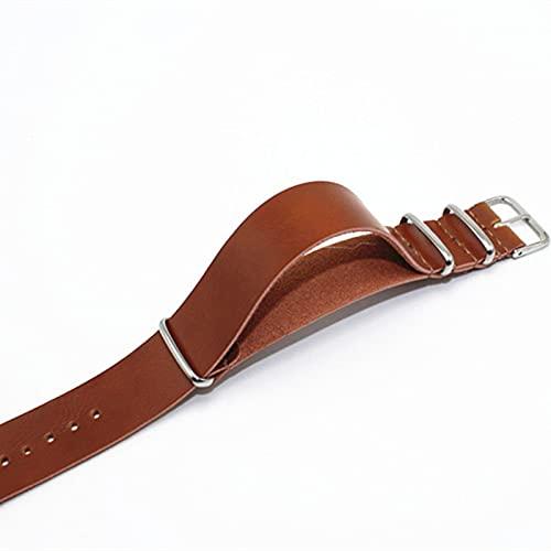 OUMIFA Banda de Repuesto Correa de Banda de Reloj de Cuero 18 mm 20 mm 22 mm 24 mm de Ancho de Reloj de Reloj for Hombres Mujeres para Hombres/Mujeres Banda de Reloj