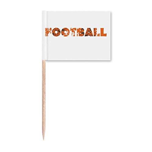 """Orangefarbener Zahnstocher mit Schriftzug """"Football"""", Partydekoration"""