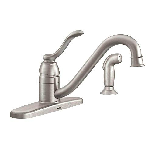 Moen 87690SRS Kitchen Faucet with Side Spray from the Banbury Collection, Spot Resist Stainless