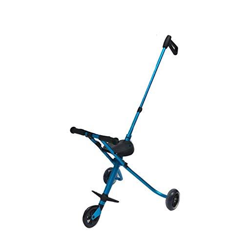 ハンディーキッズスクーター ベビーカー折畳み日傘 超軽量で (藍色)