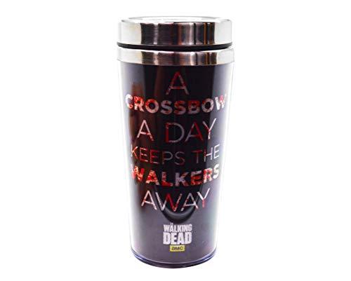 "Thermobecher | Klauenhammer, AMC \'s OFFIZIELLER THE WALKING DEAD: DARYL DIXON \""Armbrust A Day..\"" Reisetasche Premium Tasse Geschenk (BPA-frei)"