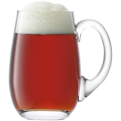 LSA International - Jarro para cerveza, vidrio claro, 750ml, 1 unidad